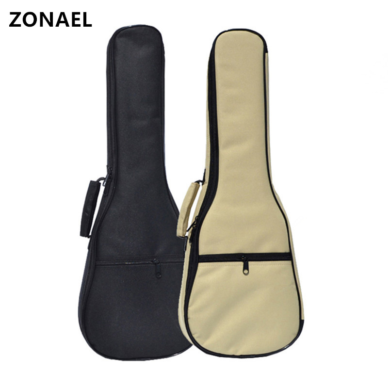 ZONAEL 2326 Ukelele Bag With Double Shoulder Strap Waterproof Bag Canvas Guitar Bags Cases Tenor Soprano 10mm Pearl Cotton
