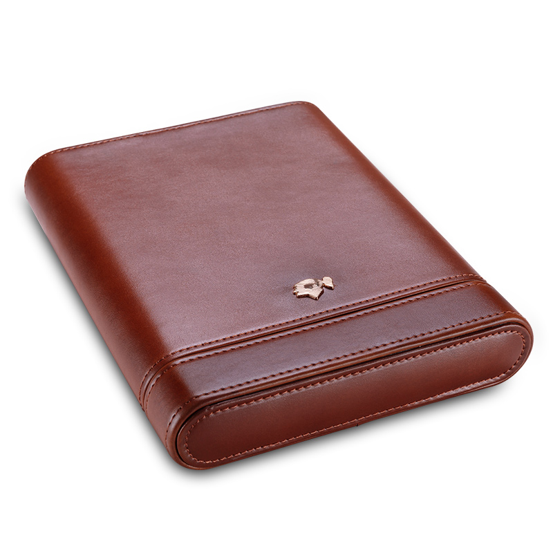 Cigar Case Portable Cow Leather Cedar Wood Cigar Moisturizing Case Cigar Holster CF-0413-0416