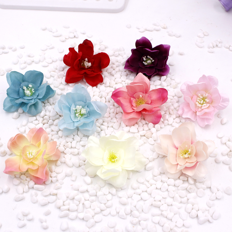 Approx 4.5cm Profit Small The Best Pk Of 10 Beautiful Frangipani Hair Clips Orange