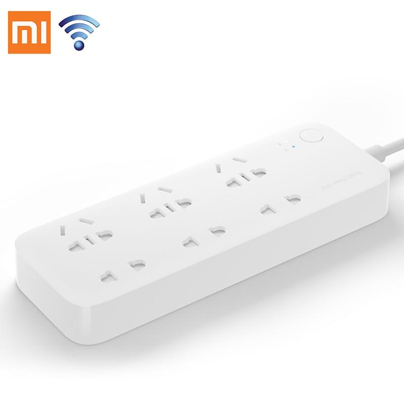 Original Xiaomi Mijia Smart Power Strip Intelligent 6 Ports Plug Socket WiFi Wireless Remote Power on/off with phone 2500W цена 2017
