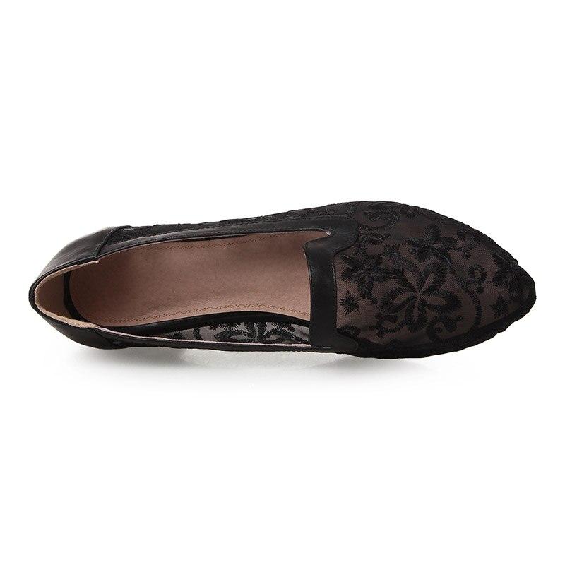 En Femme Phoentin Talons Pompes De Noir Bas Fleur or Avec Chaussures Véritable Nouveau Cuir blanc Brodé Dentelle Or Cristal Femmes Ft470 Maille 2019 qrZqa