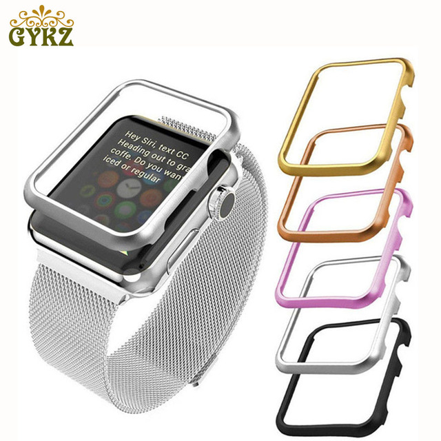 timeless design ea993 43618 US $1.49 25% OFF|Frame Protective Case For Apple Watch Series 1 2 3 38mm  42mm Luxury Cover Shell Perfect Match 38 42 mm Bumper Black Sliver Gold-in  ...