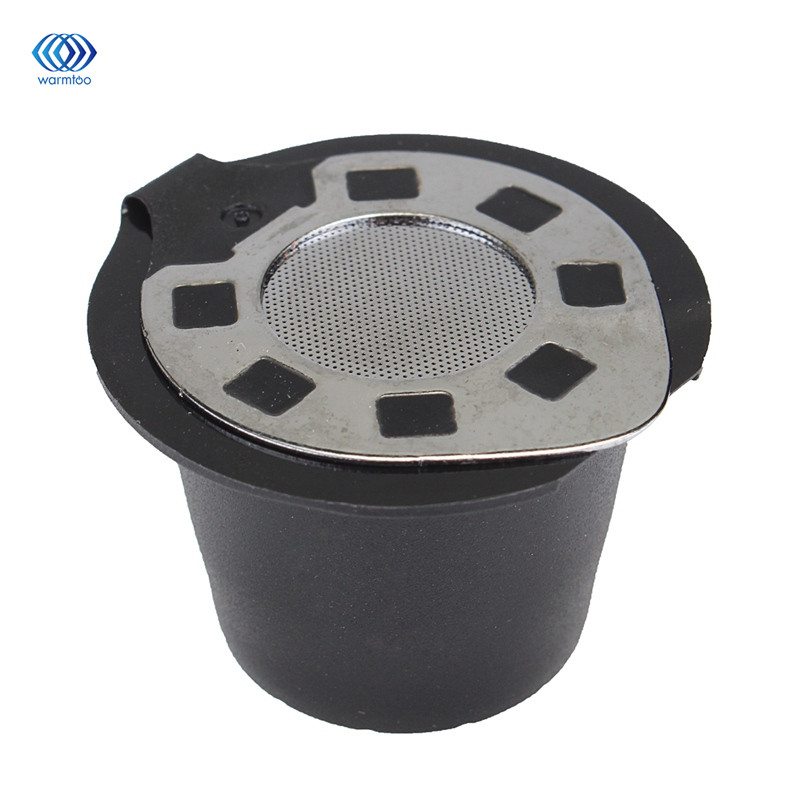 Coffee Filter Capsule Cup Refillable Reusable Stainless Steel Filtration Cap Compatible For Nescafe Nespresso