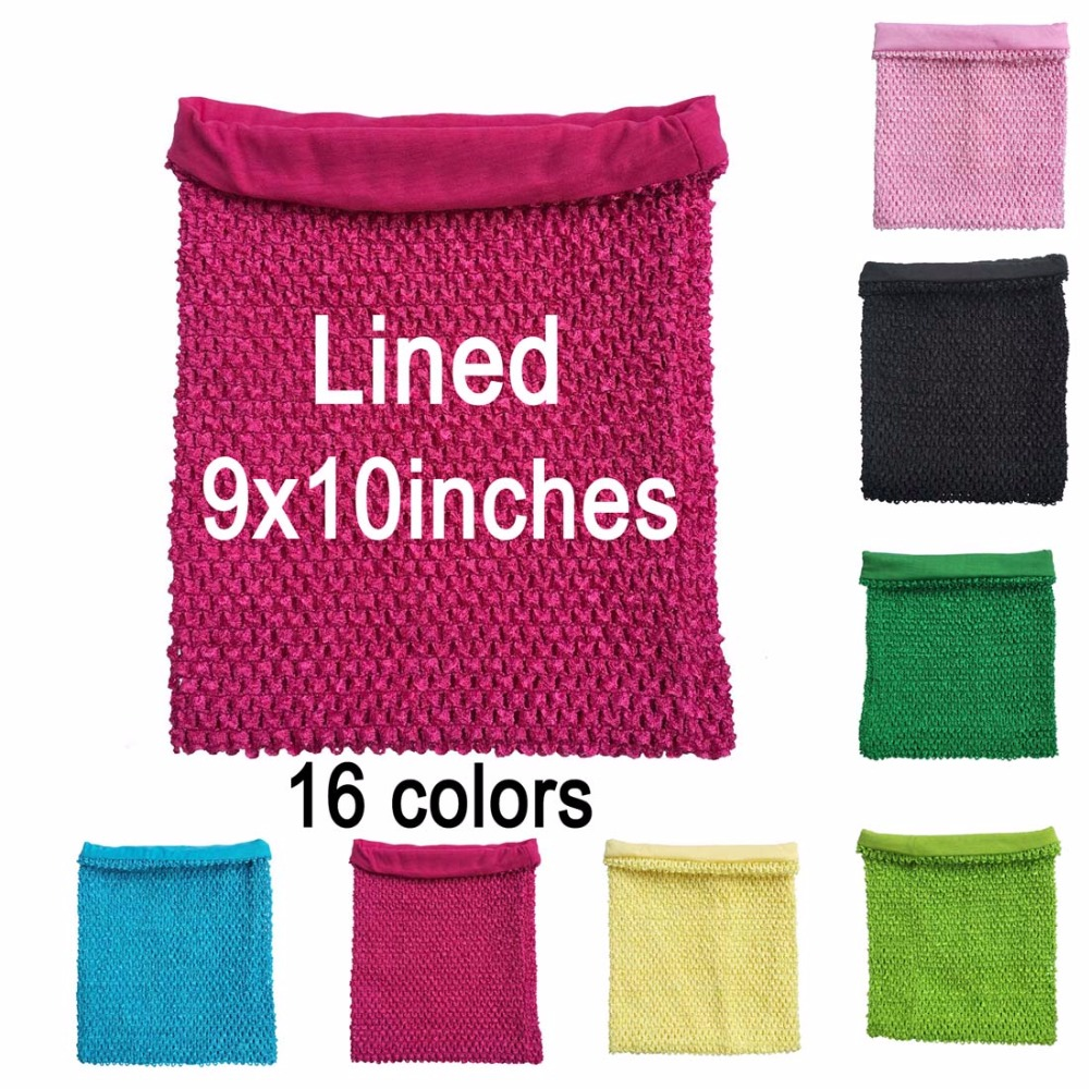 9x10 inches Lined crochet tube top tutu tops for little girls pettiskirt tutu tops 10pcs per lot-in Hair Accessories from Mother & Kids    1