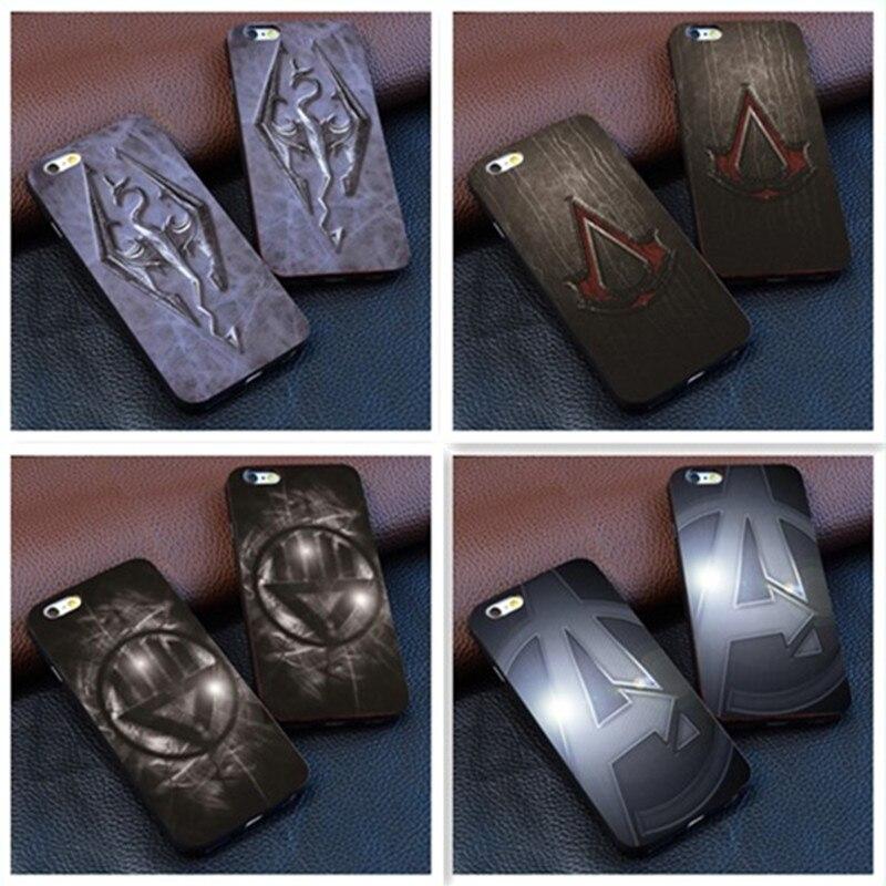 Dracaufeu the elder scrolls v skyrim Projet noir Housse En Cuir pour apple iphone 7 6 6 s plus si 5c 5 5S 4 4S
