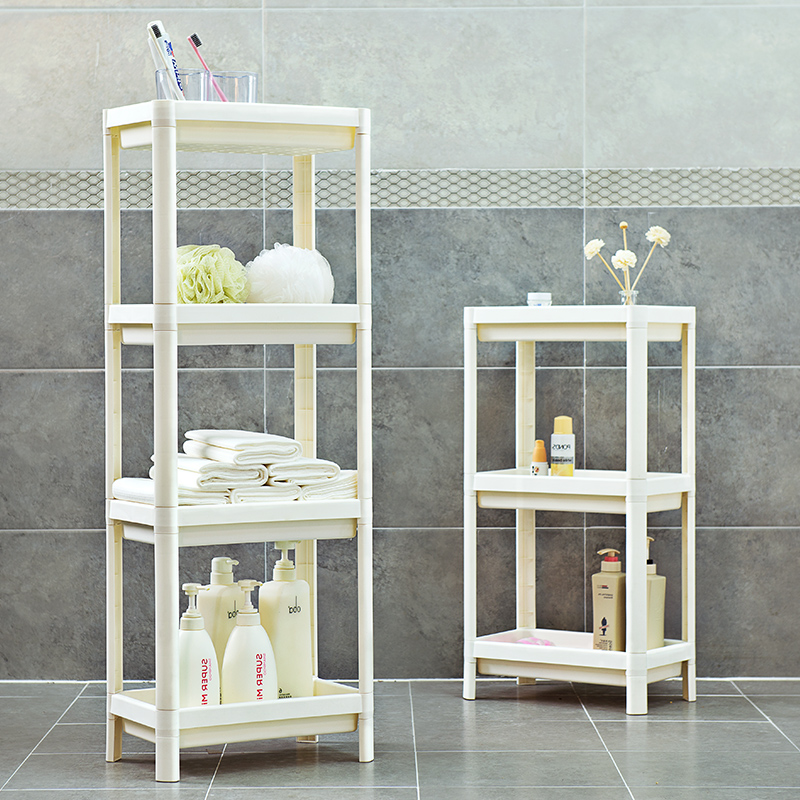 Plastic Storage Rack Shelf Bathroom/Kitchen Side Shelves Mult-functional Hollow Four Layers House Organizer