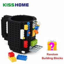 1Pc 12oz Build-On Brick Mug Type Building Blocks Coffee Cup DIY Block Puzzle Portable Drinkware Drinking Mugs 10 Colors