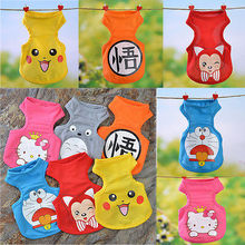 2016 fashion pet cat vest T shirt teddy puppy small large dog clothes hoody pikachu Totoro pokemon go costume cosplay clothing
