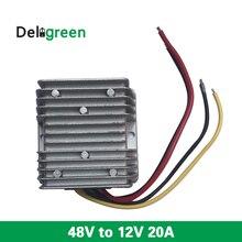 ФОТО 48V in 12V20A 240W DC DC Converter Regulator Car Step Down Reducer Buck power supply