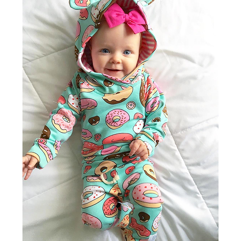 TinyPeople Baby Boys Clothes Autumn Winter Suits Fashionable Baby Girl Hooded Sports Clothing Newborn Sets Kid Infant 2-piece
