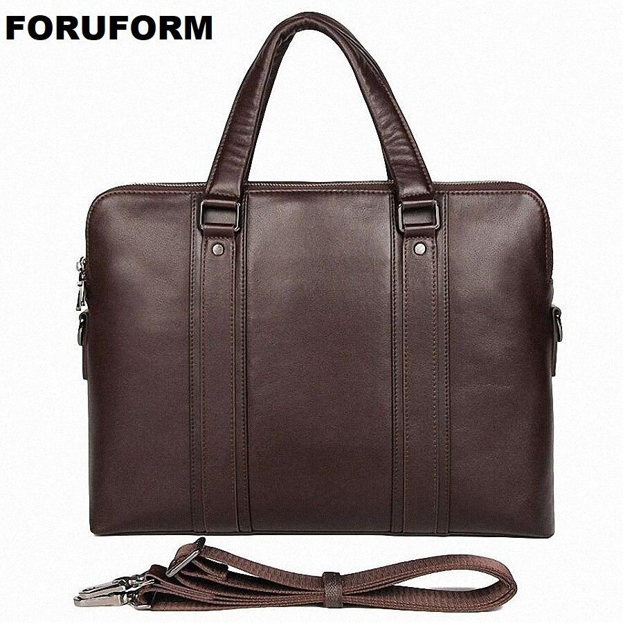 Genuine Leather Men Briefcases Laptop Casual Business Tote Bags Shoulder Crossbody Bag Men's Handbags Large Travel Bag LI-2487