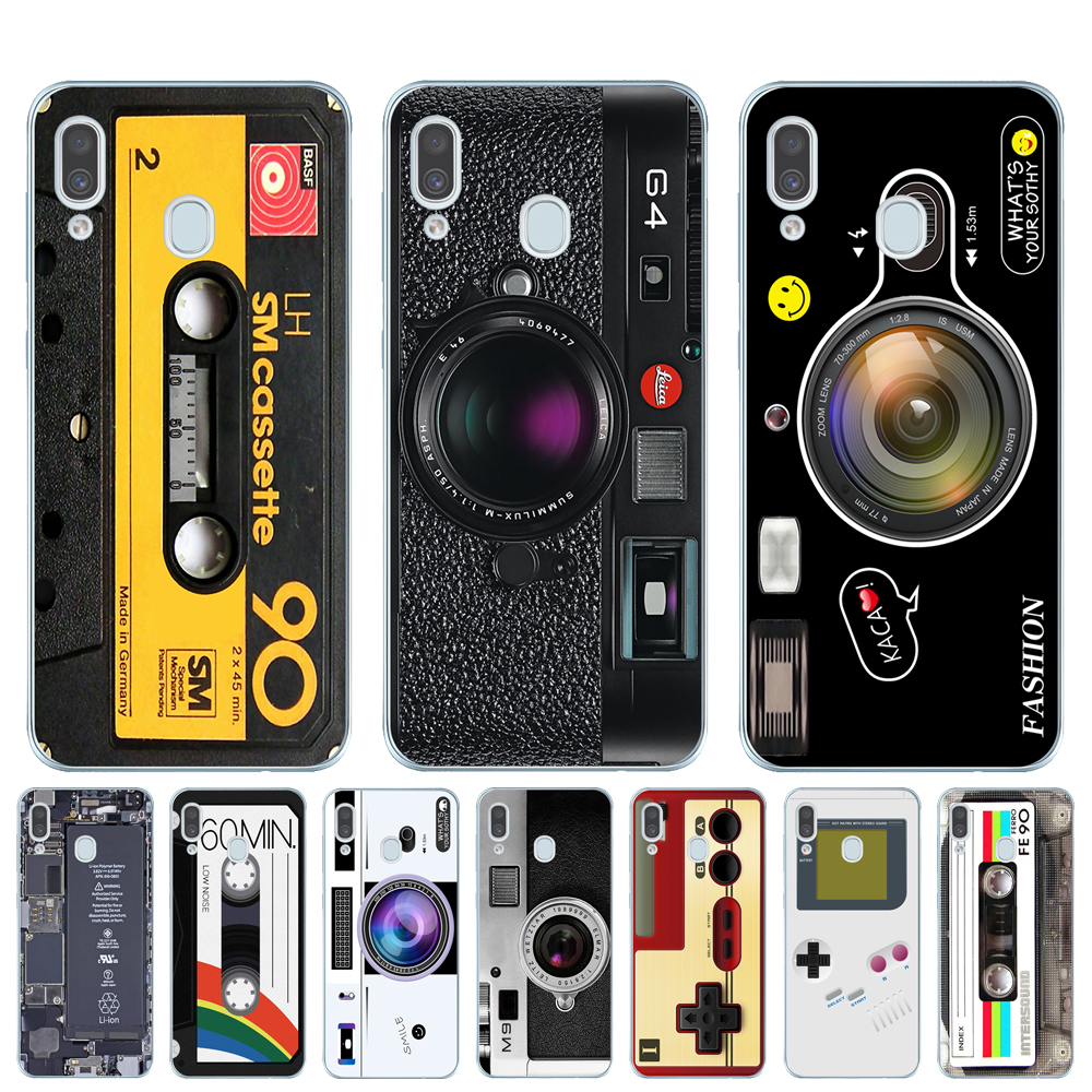 Vintage Tape Camera Gameboy Phone Case For <font><b>Coque</b></font> <font><b>Samsung</b></font> Galaxy A10 A20 A30 A40 A50 A60 <font><b>A70</b></font> A80 <font><b>2019</b></font> A7 A9 2018 Soft TPU Cover image