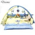Aveludado Urso Cobertor Jogo de Música Dobrável Berço Música Crawling Mat para Crianças Crianças Brinquedos Educativos Brinquedos Do Bebê Jogo Tapete Cobertor
