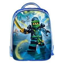 New Arrival Blue Backpack Lego Ninja Children School Bags 3D Cartoon Kids Kindergarten Bookbag Holiday Gifts