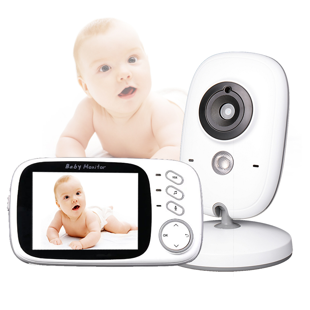 Witrue 3.2 inch Wireless Video Color Baby Monitor High Resolution Baby Nanny Security Camera Night Vision Temperature Monitoring