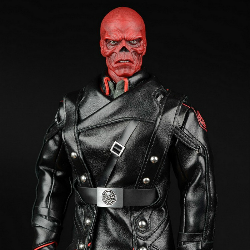 Afs Captain America Hydra Red Skull Suit A010a Leather Coat Edition/ A010b Overcoat Edition For 12collectible Action Figure Diy Toys & Hobbies
