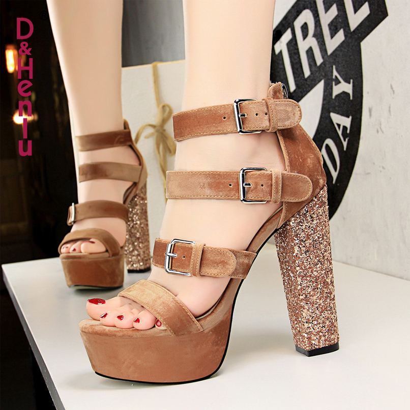 Amp De Mujer Alto Mujeres Plataforma Zapatos Sandalia Sandals rdCBxeo