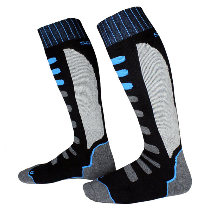 Long Ski Socks Winter Snowboard Sport Socks Thick Warm Cycling Soccer Moisture Absorption High Elastic Socks Women Men Kids