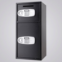 Digital Safe Box w/Depository Drop Cash Gun Jewelry Home Hotel Security Lock