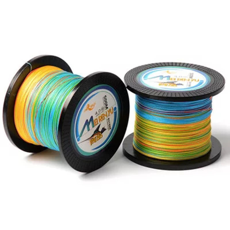 HISTOLURE Multicolor 500M 8 Strands Braided Wire Multifilament PE Braid Line Super Strong Smooth Fishing line 1m 1color