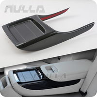 Carbon Look Rear Armrest Box Water Cup Panel Cover Trim For Mercedes Benz W213 E Class 2016 2018 Chrome Decoration Frame