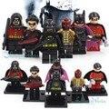 DC Бэтмен и Робин Строительные Блоки Фигурку Игрушки Бэтмен, Nightwing, Redhood, Красный Робин Batgirl, робин