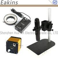 HDMI промышленный микроскоп Камера 60 кадров/сек 1080 P высокая скорость + 10 ~ 200X HD с креплением + настольная подставка держатель + 60 светодиодный с