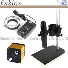On sale HDMI Industrial Microscope Camera 60 frames/sec 1080P high speed + 10~200X HD C Mount Lens + Table Stand Holder + 60 LED Light