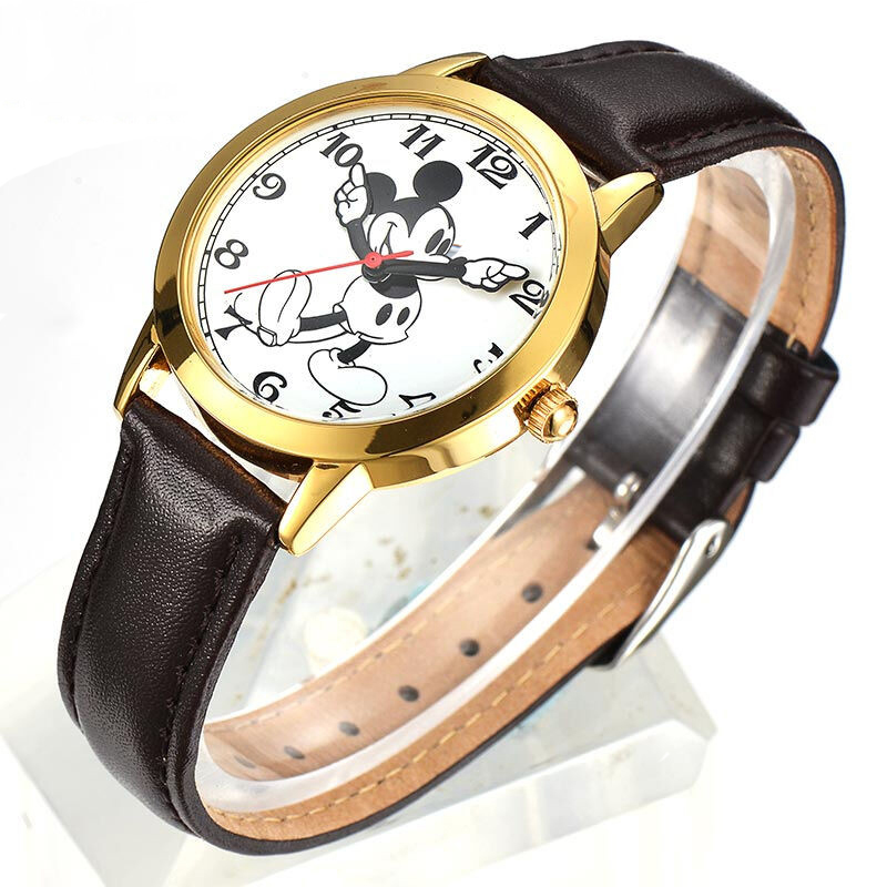 a7ebfda4076 Disney relogio feminino Mickey Mouse relógio feminino Moda Marca de Topo  relogio masculino de luxo relogio feminino Quartzo Ocasional Pulseira de  Couro ...