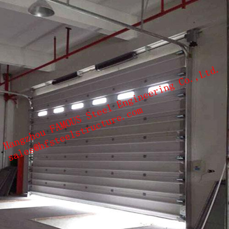 Automatic Industrial Steel Buildings Kits Roller Shutter Door For Underground Garage