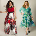 Summer Women Dresses Plus Size Sexy Boho Long Maxi Dress Sleeveless Beach Print Party Sun Dress