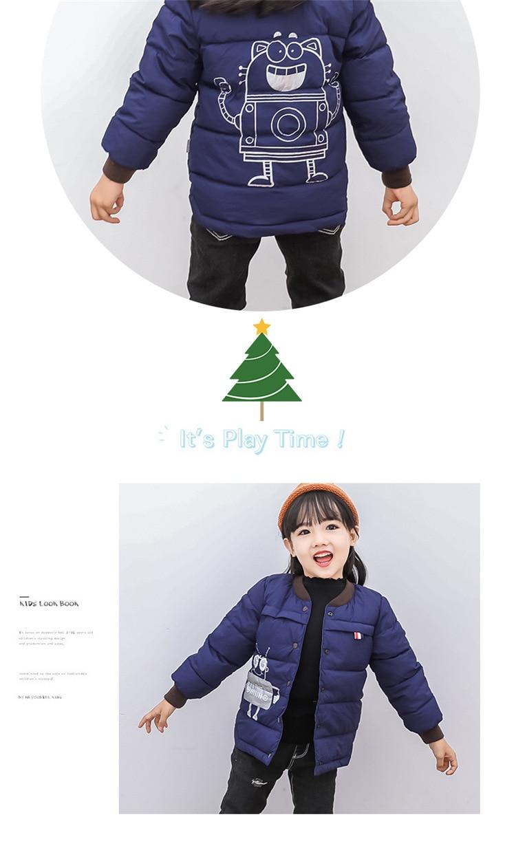 2018 Baby Boys Children Outerwear Coat Kids Jackets For Boy Girls Winter Jacket Warm Hooded Children Clothing Gray Khaki Red (8)