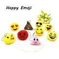 Милые брелки qq emoji мультфильм лицо улыбка 2.7 см Мягкие Круглые Мягкие Плюшевые Брелоков Телефон мужчины женщины Брелок рис. ювелирные изделия