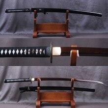 Damascus Folded Steel Practical Japanese Samurai Sword Handmade Red Blade Vintage Katana Sharp Full Tang Knife Collectible Value