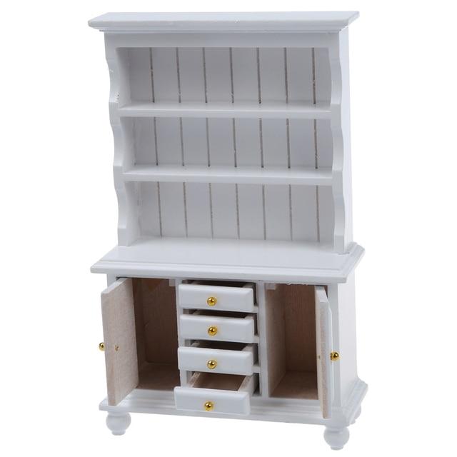 112 poppenhuis miniatuur meubels multifunctionele houten kast boekenkast wit