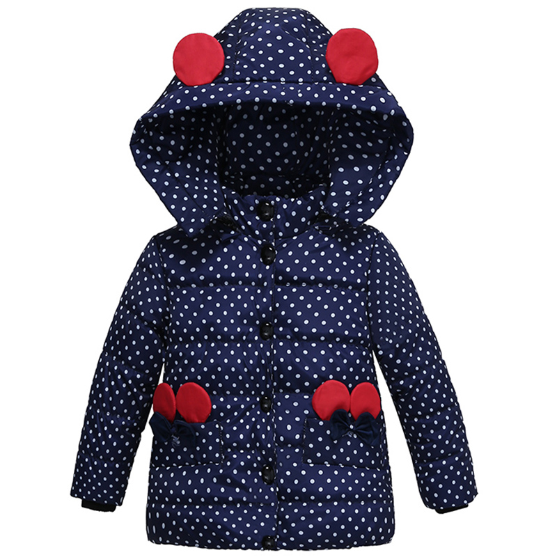 Infant Autumn Winter Jacket For Baby Girls Down Coat Children Outerwear Coats Dot Hooded Cotton Padded Kids Woolen Clothing baby coat 2018 winter jacket for baby girls hooded cotton coats warm thick children s outerwear kids clothes infant clothing