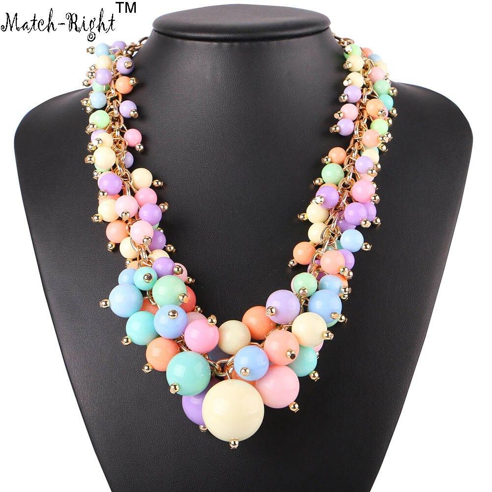 Partido-Derecho de Las Mujeres Collar de Perlas Colgantes Collares Declaración d
