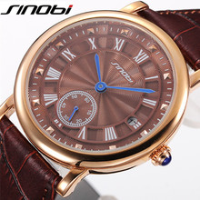 SINOBI Designer Casual Sport Quartz Watches Mens Watches Brand Luxury Watch Men Business Wristwatch Clock Male Reloj Hombre L20