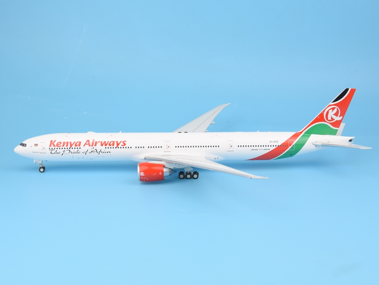 IF200 1:200 IF77730517 Kenya Airlines B777-300ER 5Y-KZZ Alloy aircraft model Collection model Holiday gift