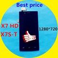 Бесплатная доставка для Iocean X7 HD X7S-T 1280 * 720 ЖК с цифрователем сенсорный экран без каркасные черный
