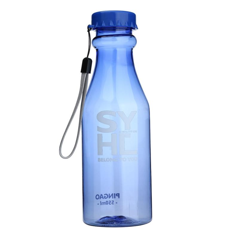 550ML Water Bottle Plastic Portable Leak-proof Unbreakable Outdoor Sports Travel Water Bottle Cycling Camping 17SEP18