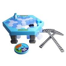 MINI Ice Breaking Penguin Family Fun Game 펭귄 트랩 활성화 Funny Table Game 인터랙티브 엔터테인먼트 장난감 LZ0037