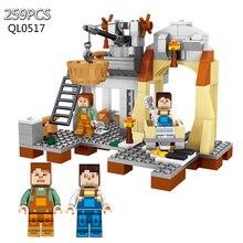 259pcs My World Minecrafted constructing Blocks Compatible Legoed Enlighten bricks scorching motion Figures Toys for kids present 0517