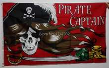 Pirate Captian Flag hot sell goods 3X5 FT 150X90CM Banner brass metal holes