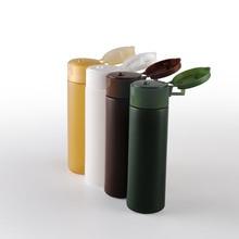 Botella plástica de crema Pet rellenable, color verde, blanco, amarillo y ámbar, con tapa abatible, contenedor de cosméticos de crema líquida de 1oz, 50x30ml