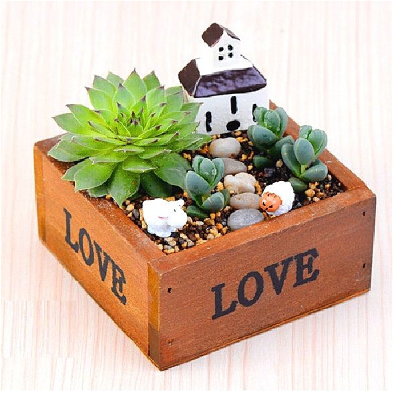 Online Buy Wholesale Square Wooden Planters From China