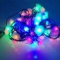10 М 80led Строка светло-Розовый цветок светодиодная лампа праздник Строки свет для Рождественский Фестиваль Партия Рождество гирлянды наружной отделки