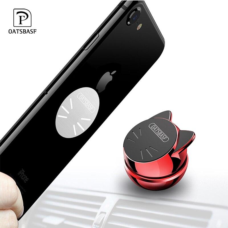OATSBASF Universal Car Phone Holder 360 Degree GPS Magnetic Mobile Phone Holder For iPhone X Samsung Magnet Mount Holder Stand 360 degrees