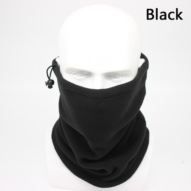 Fashion Men Winter Solid Bandana Headband Scarf Warm Multifunctional Seamless Tubular Head Scarf Face Mask Ring Scarf Unisex 4