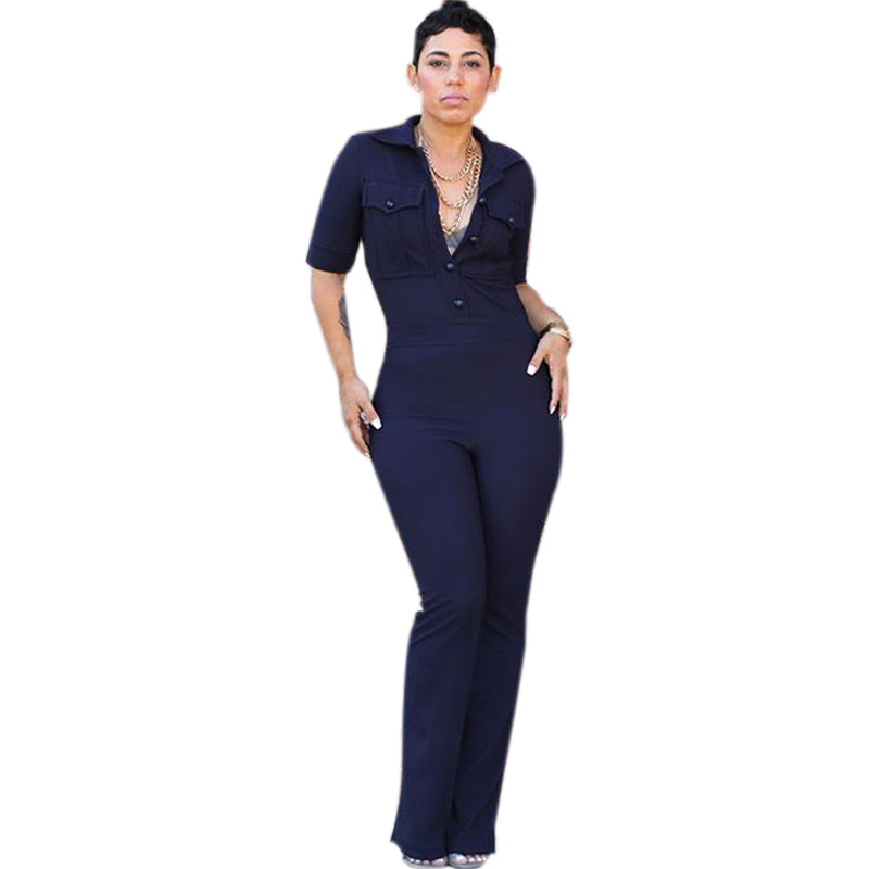 Unique FREE SHIPPING 2016 New Women Fashion Blue Jumpsuit Sexy Women Bodycon Rompers Overalls MK7351-in ...